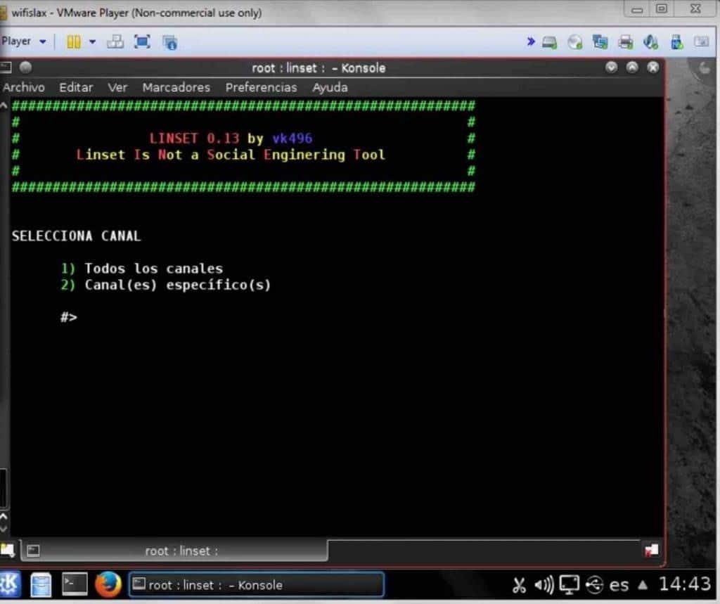hackear redes con Linset
