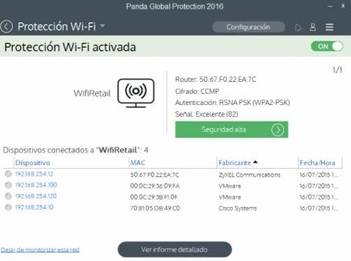 red wifi protegida