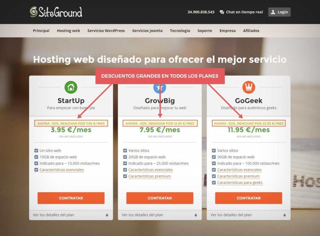 mejor hosting barato España