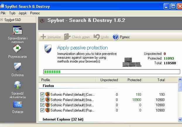 Download SpyBot – Search and Destroy Anti-Spyware/Malware