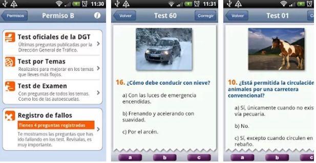 aplicaciones test DGT