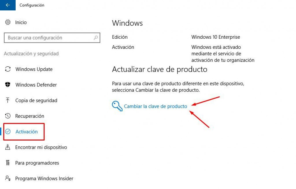 activar licencia windows 10 pro