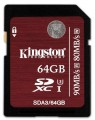 Kingston SDA3/64GB – Tarjeta de memoria SecureDigital de 64 GB, negro