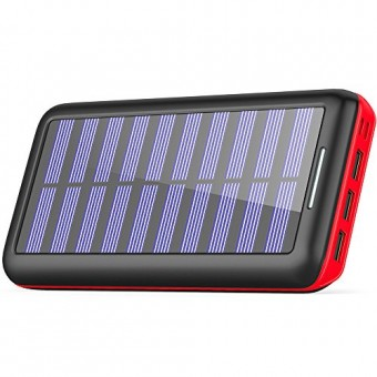 Cargador Solar Power Bank, BERNET 24000mAh Batería Externa