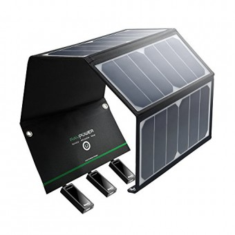RAVPower 24W Cargador Panel Solar Batería Placa Plegable