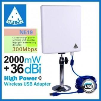 La mejor antena wifi largo alcance USB – Melon N519 (Especial para Auditorías)